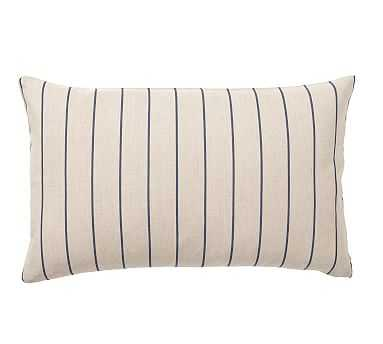 "Coronado Stripe Lumbar Pillow Cover, 16 x 26"", Blue - Pottery Barn"