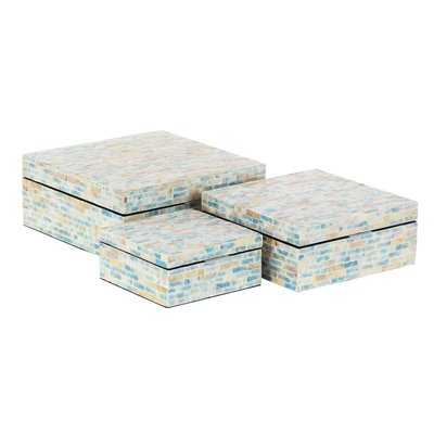 Totterdell Natural Rectangular 3 Piece Decorative Box Set with Lid - Wayfair