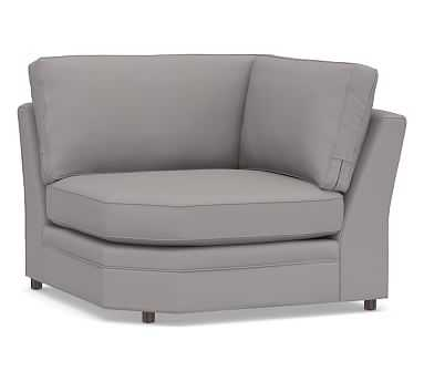 Pearce Square Arm Upholstered Wedge, Down Blend Wrapped Cushions, Performance Twill Metal Gray - Pottery Barn