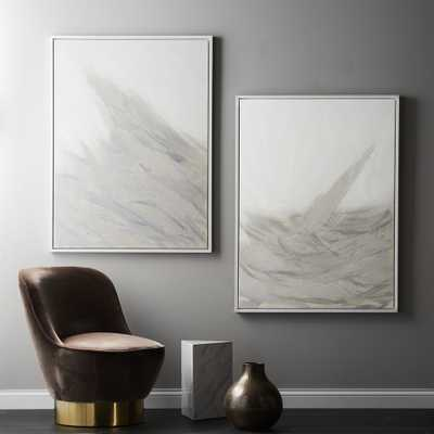 White Seas Paintings Set of 2 - CB2