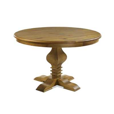 Tower Round Oak (Brown) Dining Table - Home Depot