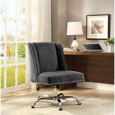 Draper Charcoal Microfiber Office Chair, Grey - Home Depot
