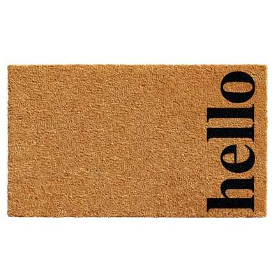 Vertical Hello Door Mat Natural/Black 17 in. x 29 in., Multi - Home Depot