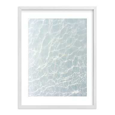 Wave Patterns Wall Art by Minted(R), 18 x 24, White - Pottery Barn Teen