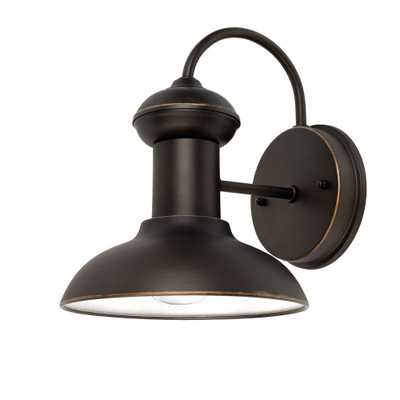 Martes 10 in. Oil Rubbed Bronze Downward Indoor/Outdoor Wall Sconce Light - Home Depot