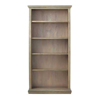Aldridge Antique Grey Open Bookcase - Home Depot