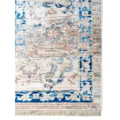 Mcmullan Oriental Ivory/Blue Area Rug - Wayfair