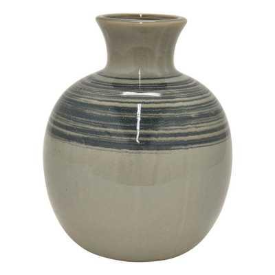 6 in. Ceramic Vase, Gray - Home Depot