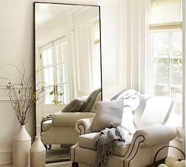 "Berke Oversized Floor Mirror, 36"" x 78"" - Pottery Barn"