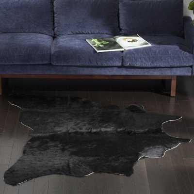 Fansler Cowhide Handwoven Black/Brown Area Rug - AllModern