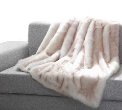 Union Rustic Tildenville Heavy Faux Fur Blanket - eBay