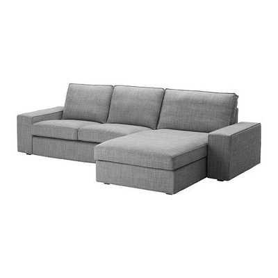KIVIK - With chaise/Orrsta light gray - Ikea