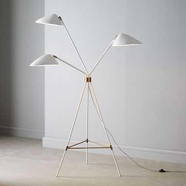 Curvilinear Mid-Century Floor Lamp - White - West Elm