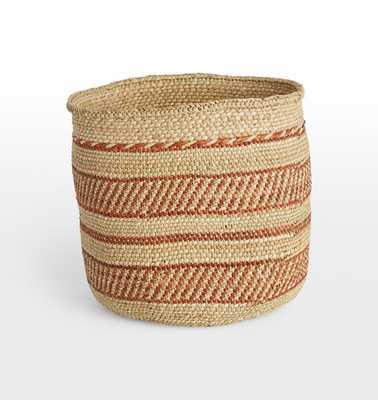 Iringa Basket - Red Stripe - Rejuvenation