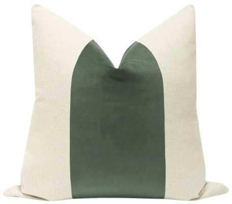 "PANEL :: Classic Velvet // Eucalyptus - 18"" X 18"" - Little Design Company"