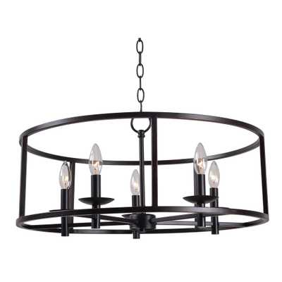 Kenroy Home Arlen 5-Light Bronze Chandelier - Home Depot
