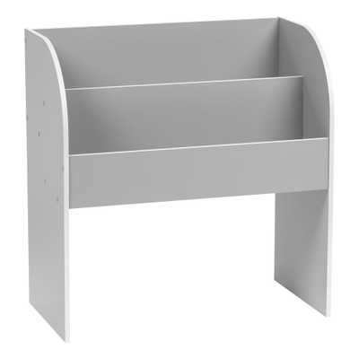 Kid's Gray Wooden Bookshelf - Home Depot