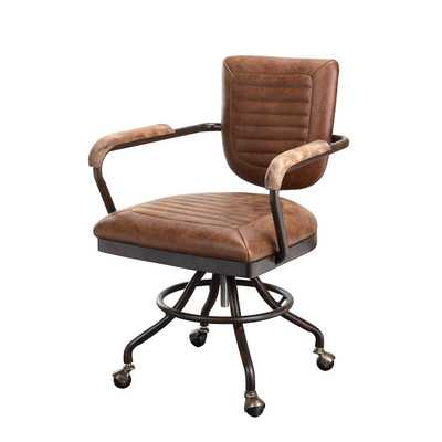 DuBois Leather Desk Chair - Wayfair