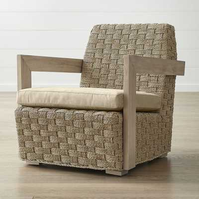 Coronado Seagrass Chair with Cushion - Crate and Barrel