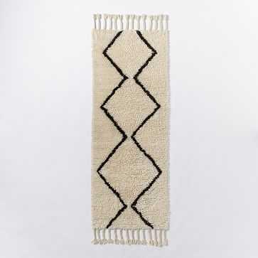 Souk Wool Rug, 2.5'x7', Ivory - West Elm