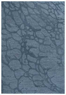 Rizzy Rugs Blue Branches Bubbles Curves Contemporary Area Rug Floral SH219B: 8' x 10' - eBay