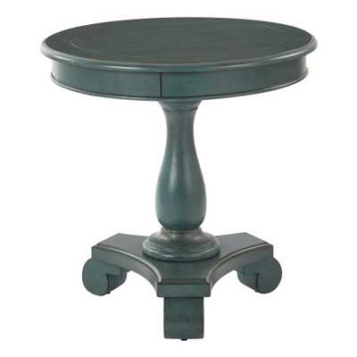 Avalon Round Accent table, Caribbean Finish - Home Depot