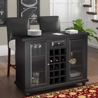 Hedon Bar Cabinet With Wine Storage Wayfair