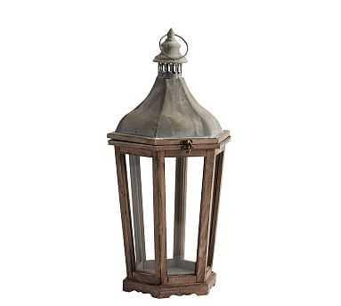 "Park Hill Lantern, Wood - Medium 24"" - Pottery Barn"