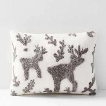 Felt Deer Pillow Cover, Ivory - West Elm