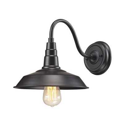 Titan Lighting Urban Lodge 1-Light Oil Rubbed Bronze Sconce - Home Depot