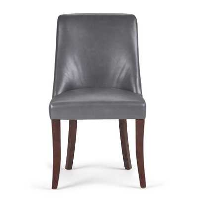 Walden Stone Grey Deluxe Dining Chair (Set of 2) - Home Depot