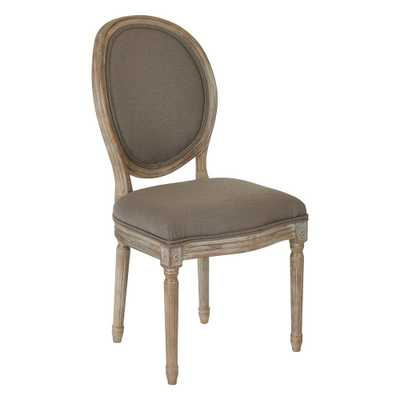 Lillian Oval Back Chair, Klein Otter - Home Depot