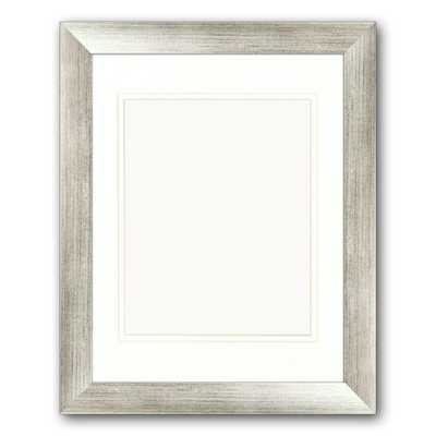 1-Opening. 8 in x 10 in. Matted Silver Portrait Frame (Set of 2) - Home Depot