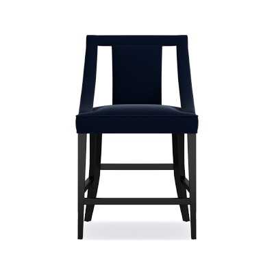 Sussex Counter Stool, Signature Velvet, Indigo, Ebony - Williams Sonoma