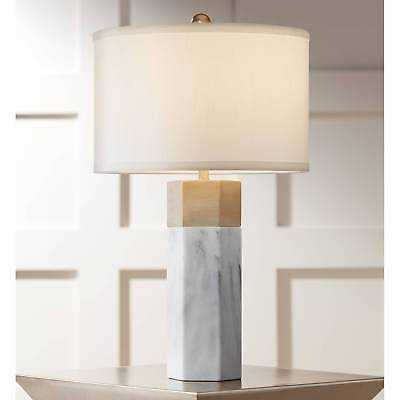 Modern Table Lamp Marble Brass Hexagonal Column White for Living Room Bedroom - eBay