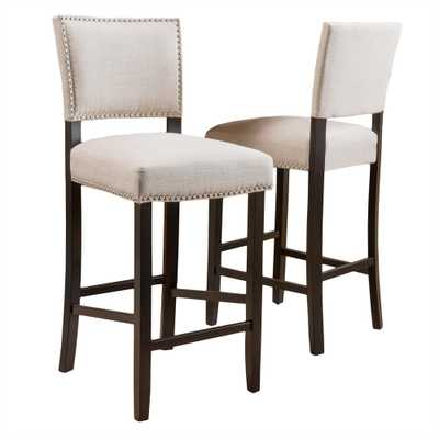 Mayfield 44.5 in. Dark Beige Cushioned Bar Stool (Set of 2) - Home Depot