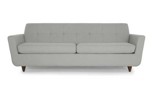 Gray Hughes Mid Century Modern Sleeper Sofa - Sunbrella Premier Fog - Coffee Bean - Joybird