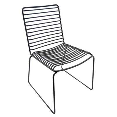 30 in. Black Side Chair - Home Depot