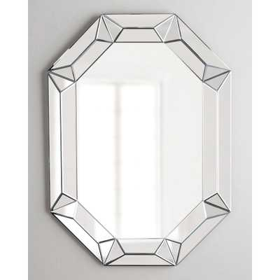 Afina Modern Luxe 28 in. x 42 in. Framed Octagon Contemporary Openwork Decorative Wall Mirror in Clear - Home Depot