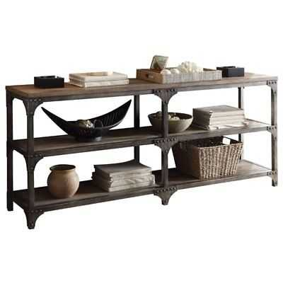 Bowery Hill Console Table in Weathered Oak and Antique Silver - eBay