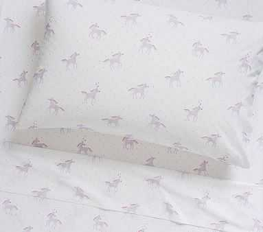 Unicorn Rainbow, Standard Pillow Case, Lavender - Pottery Barn Kids