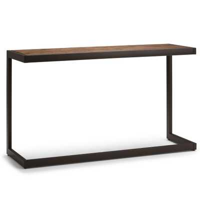 Erina Rustic Natural Aged Brown Console Sofa Table - Home Depot