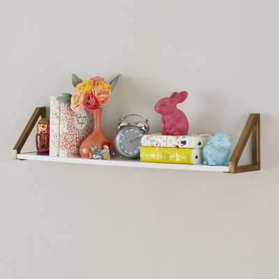White and Gold Wall Shelf - Crate and Barrel