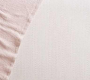 Organic Blush Falling Dot Crib Fitted Sheet - Pottery Barn Kids