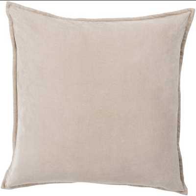 Cotton Velvet Pillow 22x22 with Poly Insert - Neva Home
