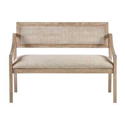 Deleon Cane Arm Wood Bench - AllModern
