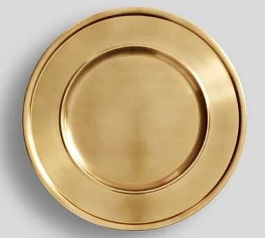 Antique Gold Charger - Pottery Barn