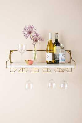 Mayfair Wall Mounted Wine Glass Shelf - Anthropologie