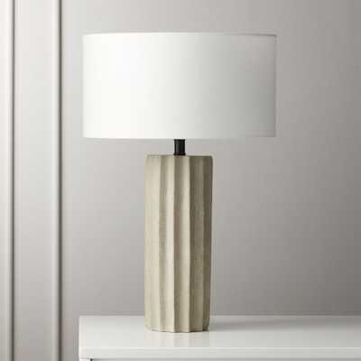 Scallop Concrete Table Lamp - CB2