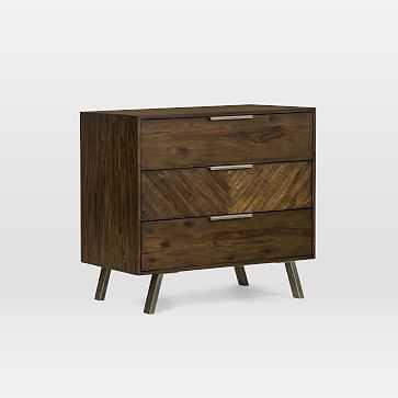 Parquet Block + Steel 3-Drawer Dresser - West Elm